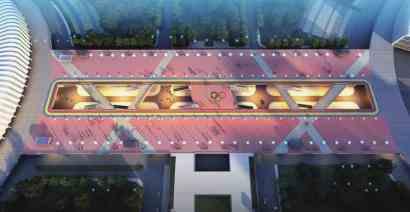 奥体中心二层平台将改建成健身跑道