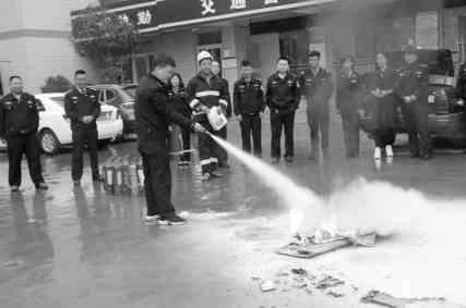康县交警大队:组织开展消防演练活动