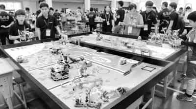 机器人赛场显身手