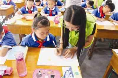 薛城愛心暑托班在古井社區開班