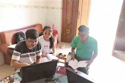 广西少数民族语言资源保护布努语调研组到田东调研