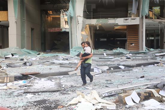 海外网黎巴嫩爆炸事件致30万人无家可归 该国粮食储备不足一个月
