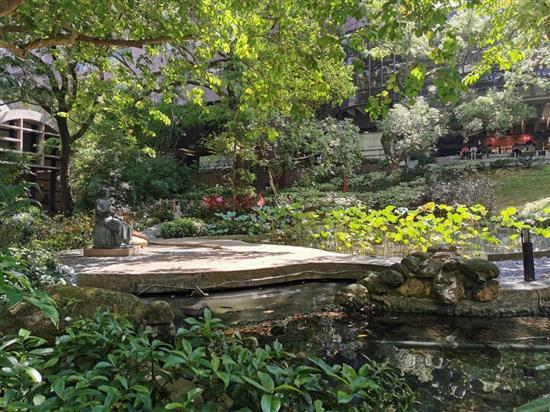 香港大学孙中山纪念雕像及花园。